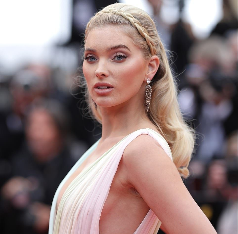 Elsa Hosk exudes the model glamour in plunging chiffon gown at the 'A Hidden Life' premiere at the 72nd annual Cannes Film Festival 1