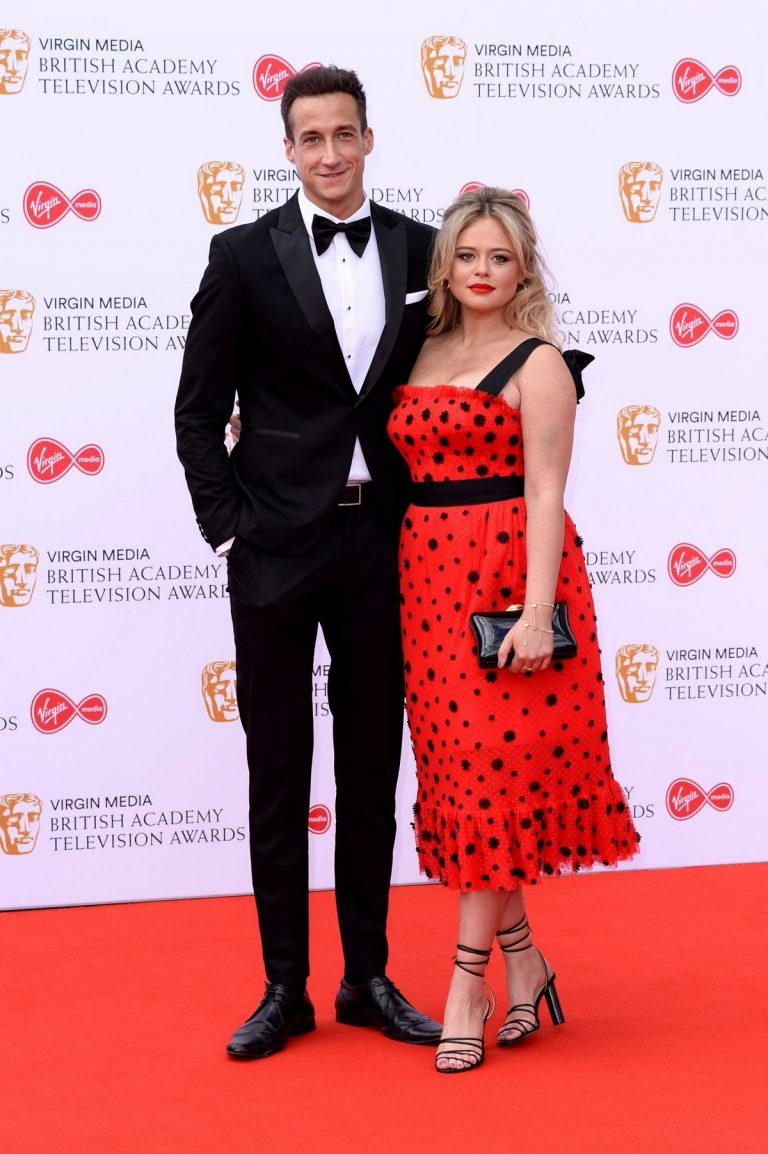 Emily Atack and Rob Jowers at 2019 BAFTA Awards at Royal Festival Hall in London 2019/05/12 4