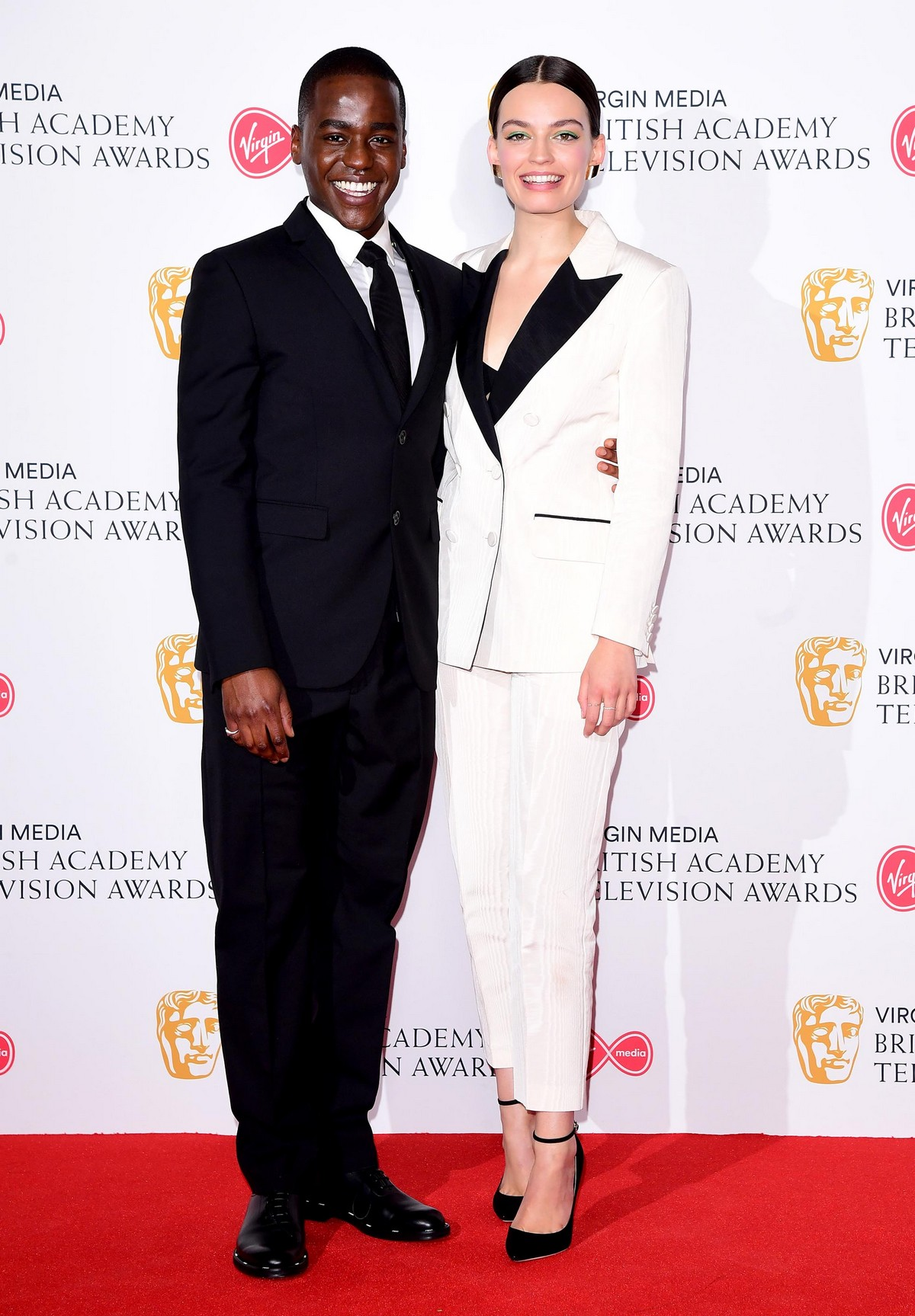 Emma Mackey and Ncuti Gatwa at 2019 BAFTA Awards at Royal Festival Hall in London 2019/05/12 11