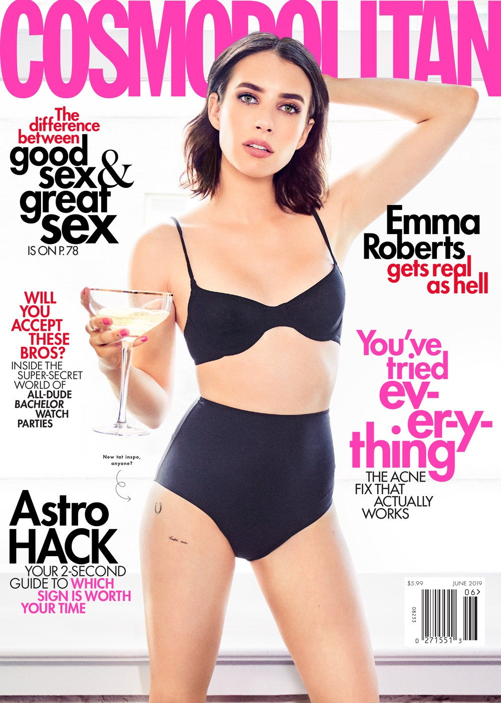 Emma Roberts Cover Photoshoot for Cosmopolitan Magazine, June 2019 3