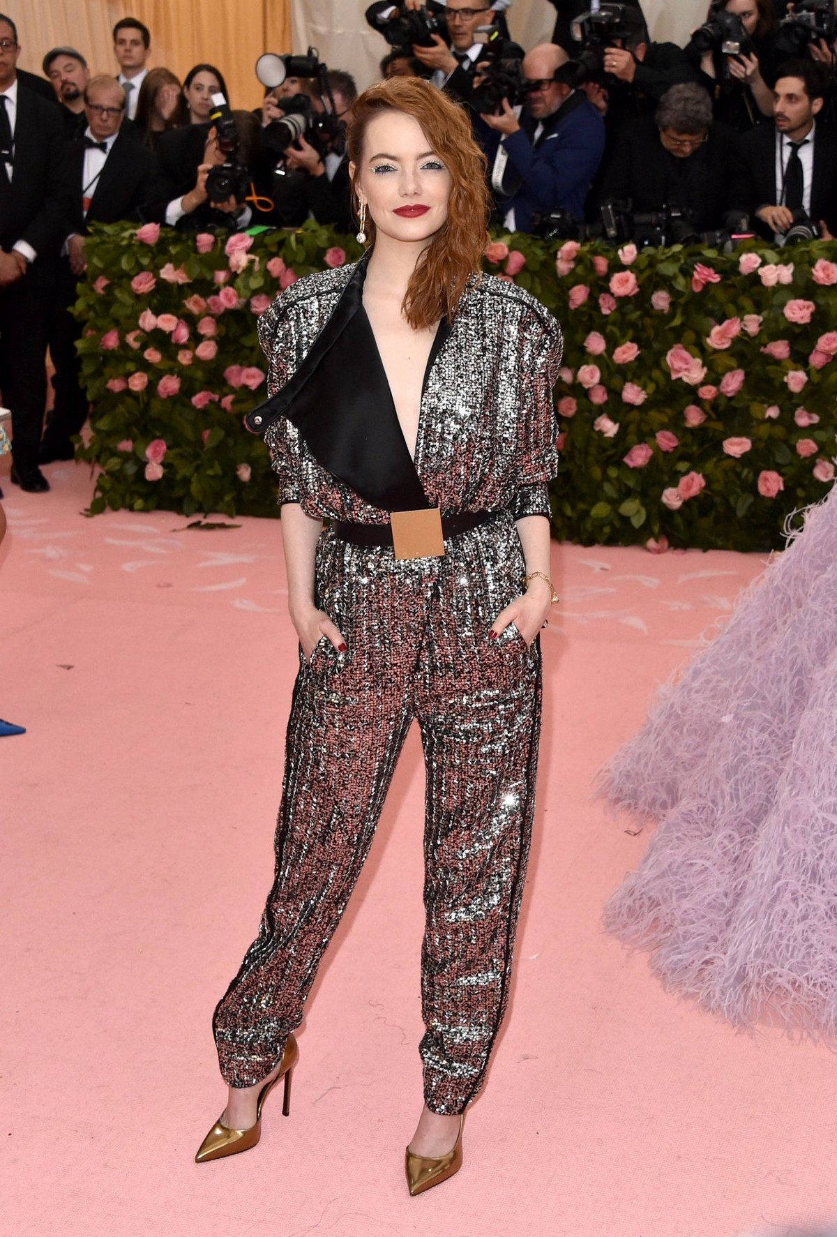 Emma Stone at The 2019 Met Gala Celebrating Camp: Notes on Fashion in New York 2019/05/06 2