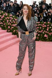 Emma Stone at The 2019 Met Gala Celebrating Camp: Notes on Fashion in New York 2019/05/06 3
