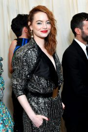 Emma Stone at The 2019 Met Gala Celebrating Camp: Notes on Fashion in New York 2019/05/06 5