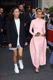 Hailey Baldwin at The 2019 Met Gala Red carpet in New York 2019/05/06 2