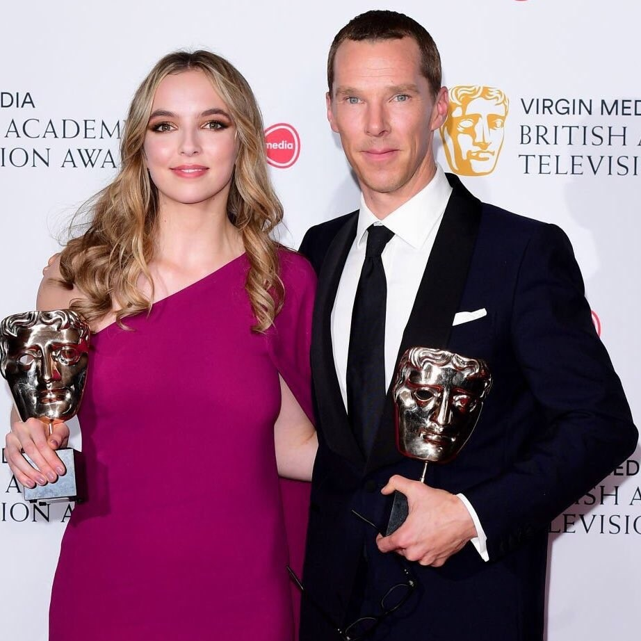 Jodie Comer and Benedict Cumberbatch - Leading Award Winners at 2019 BAFTA Awards 2019/05/12 2
