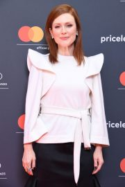 Julianne Moore in Stylish White Top During at 72nd Annual Cannes Film Festival 2019/05/15 2