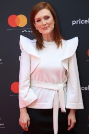 Julianne Moore in Stylish White Top During at 72nd Annual Cannes Film Festival 2019/05/15 12