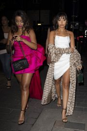 Leigh-Anne Pinnock Arrives at a Club in London for her sister's birthday party 2019/05/05 10
