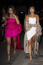 Leigh-Anne Pinnock Arrives at a Club in London for her sister's birthday party 2019/05/05 11