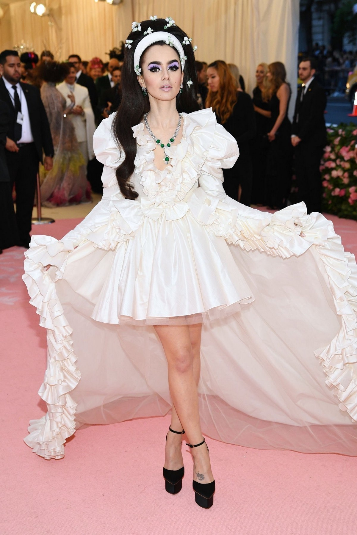 Lily Collins at 2019 Met Gala Celebrating Camp: Notes on Fashion in New York 2019/05/06 10
