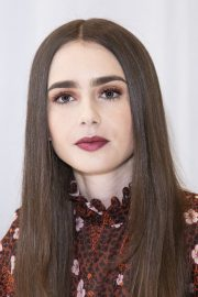"""Lily Collins at """"Tolkien"""" Press Conference in Hollywood 2019/04/22 12"""