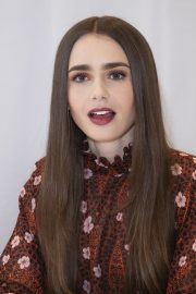 """Lily Collins at """"Tolkien"""" Press Conference in Hollywood 2019/04/22 17"""