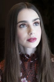 """Lily Collins at """"Tolkien"""" Press Conference in Hollywood 2019/04/22 18"""