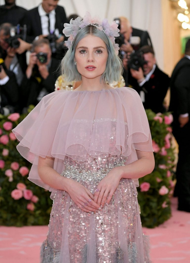 Lucy Boynton at The 2019 Met Gala celebrating Camp: Notes on Fashion in New York 2019/05/06 12