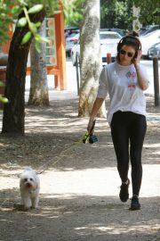 Lucy Hale walk with Her Dog at Los Angeles 2019/05/01 2