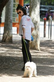 Lucy Hale walk with Her Dog at Los Angeles 2019/05/01 4