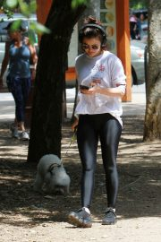 Lucy Hale walk with Her Dog at Los Angeles 2019/05/01 5