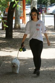 Lucy Hale walk with Her Dog at Los Angeles 2019/05/01 7