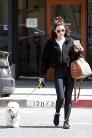 Lucy Hale with friends and her dog Out in Studio City 2019/05/01 2