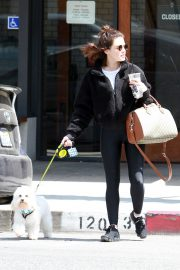 Lucy Hale with friends and her dog Out in Studio City 2019/05/01 3