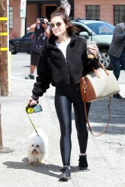 Lucy Hale with friends and her dog Out in Studio City 2019/05/01 4