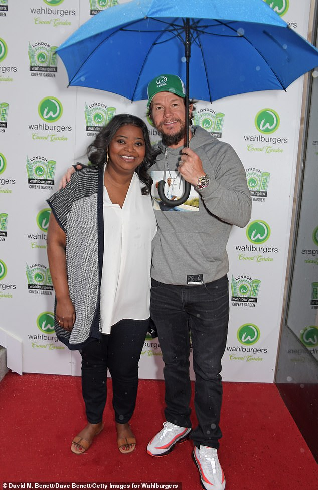 Mark Wahlberg celebrates the launch of the Burger Restaurant 'Wahlburgers' in London on Saturday 1