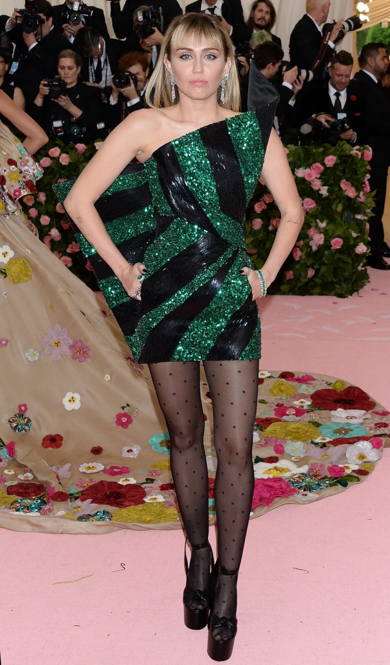 Miley Cyrus at The 2019 Met Gala Celebrating Camp: Notes on Fashion in New York 2019/05/06 2