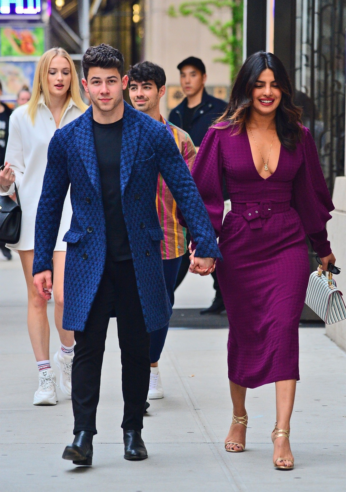Nick Jonas, Priyanka Chopra, Sophie Turner and Joe Jonas Out in New York 2019/05/10 11