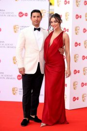 Pregnant Amy Jackson with Her Husband George Panayiotou at 2019 BAFTA Awards in London 2019/05/12 2