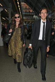 Pregnant Keira Knightley Arrives Back in London 2019/05/03 2