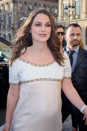 Pregnant Keira Knightley Attends the CHANEL J12 Cocktail on Place Vendome in Paris 2019/05/02 13