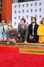 """The Big Bang Theory Cast """"Handprint Ceremony""""  at Chinese Theatre in Los Angeles 2019/05/01 12"""