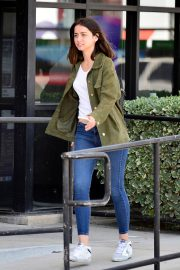 Ana de Armas in White T-Shirt and Blue Denim Out in Los Angeles 2019/06/27 14