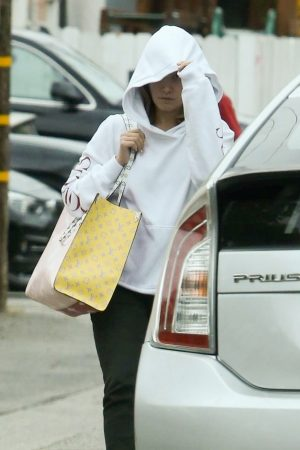 Ashley Tisdale in White Hoodies Out in Beverly Hills 2019/06/21 3