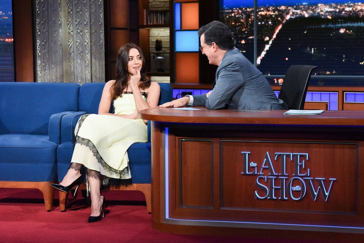 Aubrey Plaza attends The Late Show with Stephen Colbert 2019/06/14 1