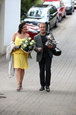 Barbora Kodetova arrives 80th Birthday Party of singer Karel Gott 2019/06/21 2