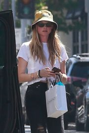 Behati Prinsloo in White Top and Ripped Jeans Out in Beverly Hills 2019/06/28 4