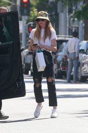 Behati Prinsloo in White Top and Ripped Jeans Out in Beverly Hills 2019/06/28 5