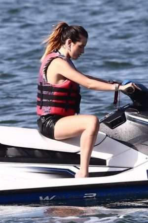 Bella Thorne and Her Sister Enjoys the waters on Jetski in Miami 2019/06/21 15