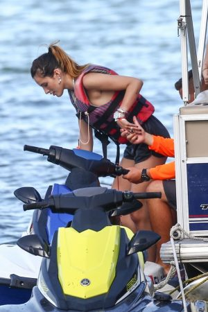 Bella Thorne and Her Sister Enjoys the waters on Jetski in Miami 2019/06/21 18