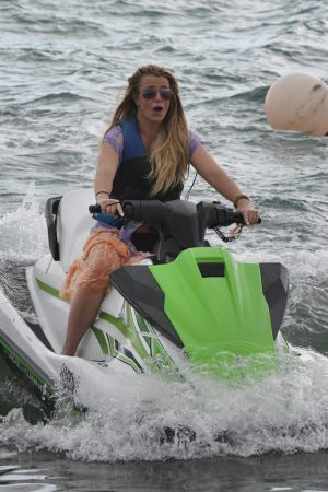Britney Spears and Sam Asghari at Jet Ski Ride on the beach in Miami 2019/06/09 1