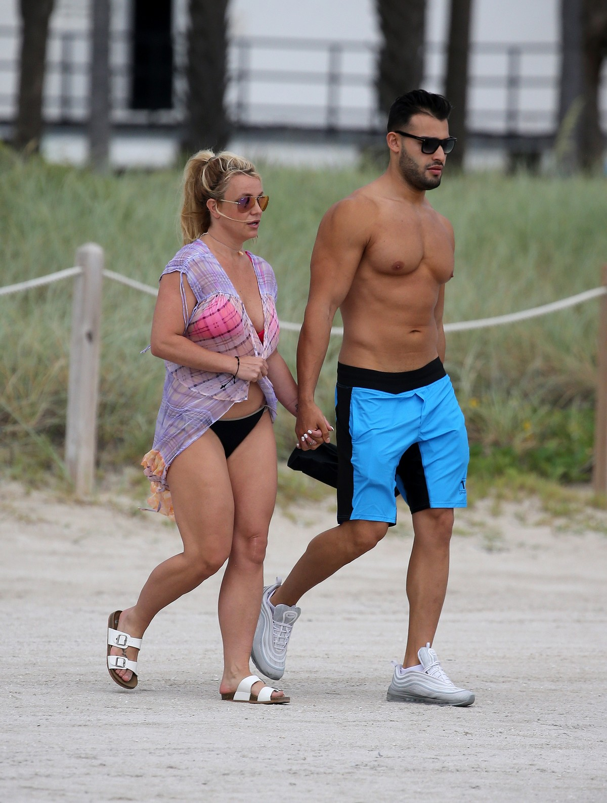 Britney Spears and Sam Asghari at Jet Ski Ride on the beach in Miami 2019/06/09 8
