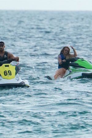 Britney Spears and Sam Asghari at Jet Ski Ride on the beach in Miami 2019/06/09 17