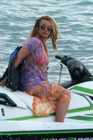 Britney Spears and Sam Asghari at Jet Ski Ride on the beach in Miami 2019/06/09 38