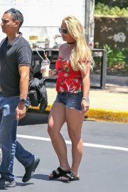 Britney Spears in off shoulders top and shorts Out for shopping in Thousand Oaks 2019/06/28 14