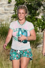 Britney Spears in Shorts After leaves a Yoga Class in Los Angeles 2019/06/27 2