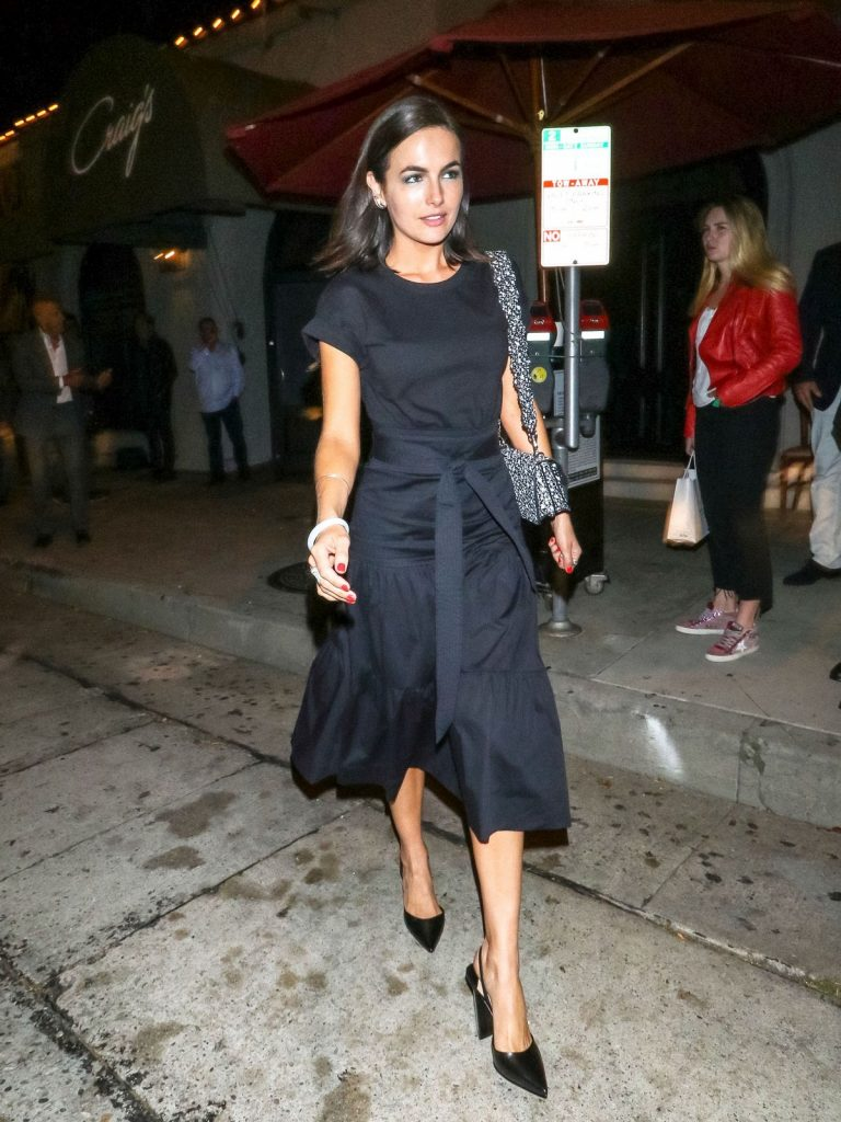 Camilla Belle for dinner at Craig's Restaurant in West Hollywood 2019/06/17 11