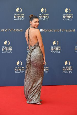 Candice Pascal arrives Golden Nymph Awards Ceremony Red Carpet 2019/06/19 1