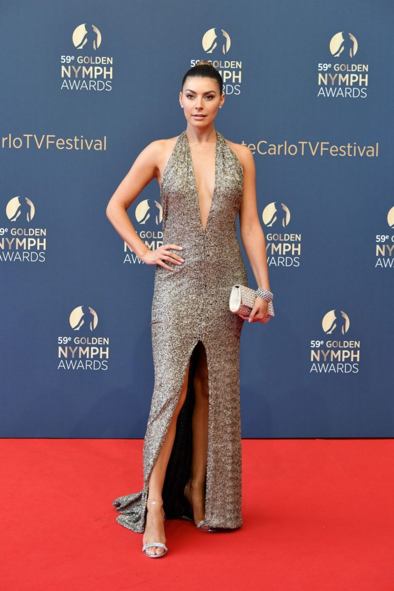 Candice Pascal arrives Golden Nymph Awards Ceremony Red Carpet 2019/06/19 5