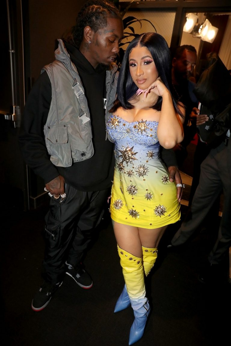 Cardi B and Offset (Rapper) at 2019 BET Awards in Los Angeles 2019/06/23 2